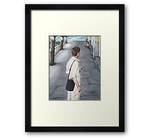 THE AMERICAN TOURIST/Oil on canvas Framed Print