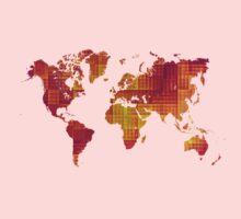 World map orange cube Kids Clothes