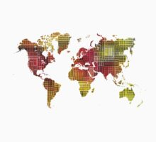 Map of the world colored cube Kids Clothes