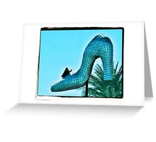 Silver Slipper Greeting Card