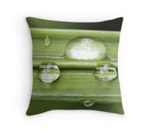 Stripy drops Throw Pillow