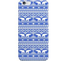 Elephant Tribal Blue iPhone Case/Skin