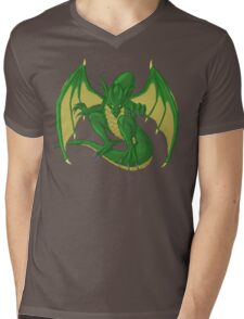 Green Dragon Mens V-Neck T-Shirt