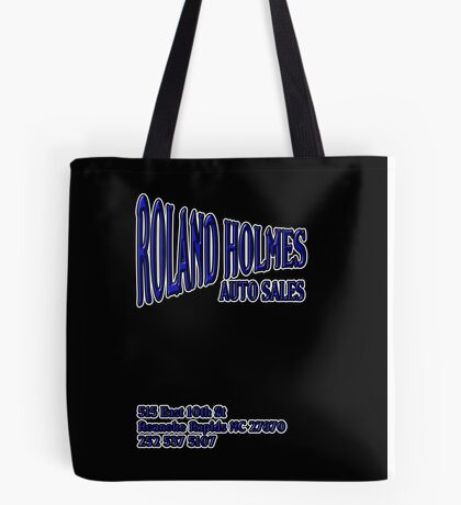 ROLAND HOLMES blue logo  Tote Bag