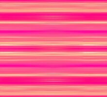 Coral and Pink Brush Stroke Painted Stripes by Blkstrawberry