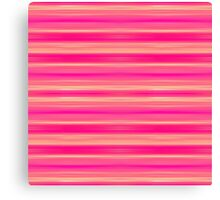 Coral and Pink Brush Stroke Painted Stripes Canvas Print
