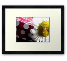 Dots & Daisies Framed Print