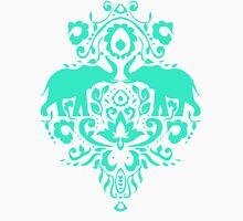 Elephant Damask Mint Unisex T-Shirt