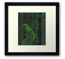 Bird Topiary Hedge Framed Print