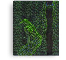 Bird Topiary Hedge Canvas Print