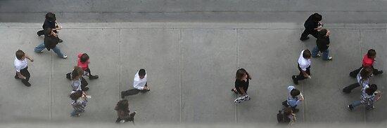 People on Walk 3 by Ronald Eller