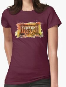 The Acropolis Of Athens Womens Fitted T-Shirt