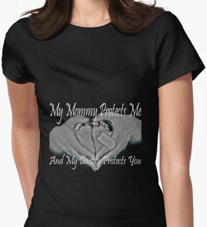 Military Baby On the Way Womens Fitted T-Shirt
