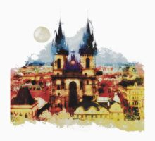 Prague Church of Our Lady before Tyn One Piece - Short Sleeve