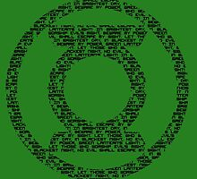 Green Lantern Oath (Black) by DarkBlueOwl