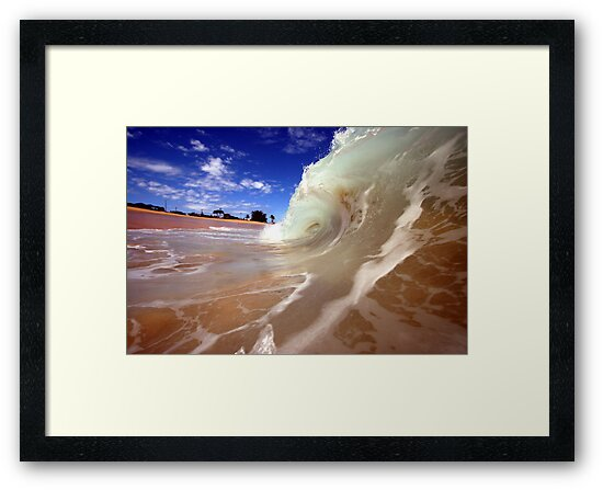 Blue Skies and Wet Sand by ManaPhoto
