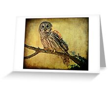 Solitude Stands While Wisdom Draws Near Greeting Card