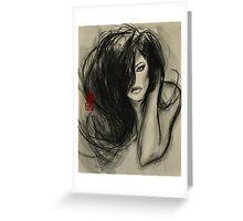 one dark whisper... Greeting Card