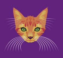 orange cat by Bloomin'  Arty Tees