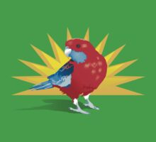 crimson rosella by Bloomin'  Arty Tees