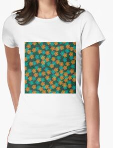 Flower Pattern Womens Fitted T-Shirt