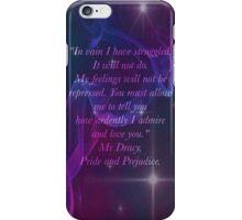 Mr Darcy Quote Phone iPhone Case/Skin