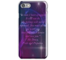 Mr Darcy Quote Phone iPhone Case/Skin