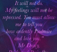 Mr Darcy Quote Phone by Jade13296