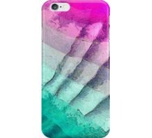 """Abstract art """"Purple and turquoise"""" iPhone Case/Skin"""