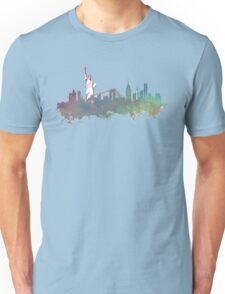 New York City skyline green Unisex T-Shirt