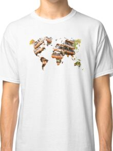 Map of the world architecture Classic T-Shirt