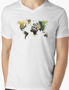 Map of the world time  Mens V-Neck T-Shirt