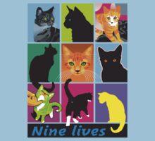 nine lives Kids Tee