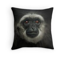 Silvery Gibbon Throw Pillow