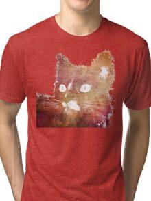Orange cat Tri-blend T-Shirt