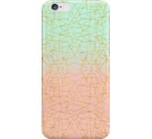 Pink Mint Green Ombre Gold Glitter Geometric  iPhone Case/Skin
