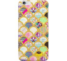 Modern Scallop Pattern Trendy Girly Gold Glitter iPhone Case/Skin
