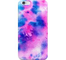 Modern bright navy blue pink abstract watercolor iPhone Case/Skin