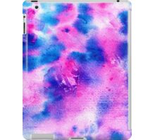 Modern bright navy blue pink abstract watercolor iPad Case/Skin