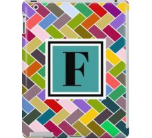 F Monogram iPad Case/Skin