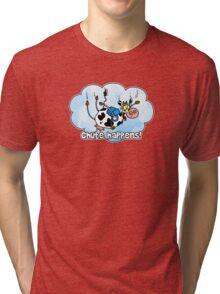 chute happens Tri-blend T-Shirt