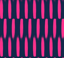 Modern abstract neon pink navy blue brushstrokes by GirlyTrend