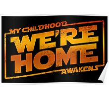We're Home (red White) Poster