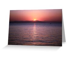 Aegean Sunrise Greeting Card