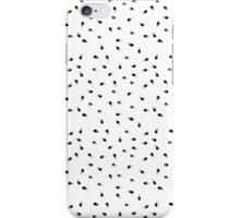 Modern abstract black white paint polka dots  iPhone Case/Skin