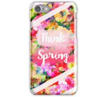 Spring girly pink typography watercolor floral  iPhone Case/Skin