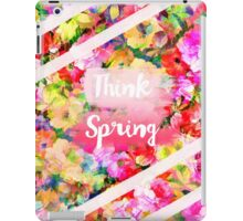 Spring girly pink typography watercolor floral  iPad Case/Skin