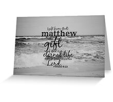 Matthew Greeting Card