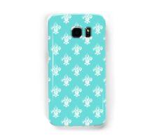 Fleur De Lis in tiffany blue. Samsung Galaxy Case/Skin