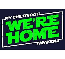 We're Home (green white) Photographic Print